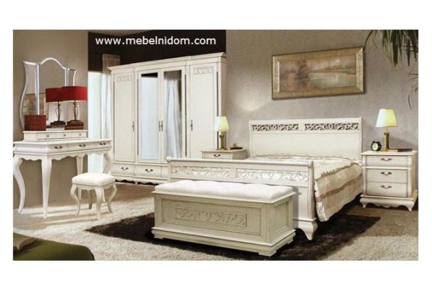 Спальня «Оскар ММ-216» с белой эмалью