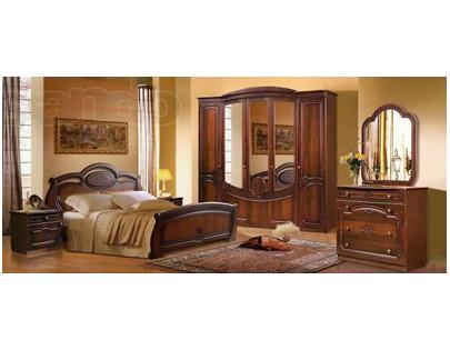 Спальня с зеркальным шкафом Слонимдревсервис «Щара»