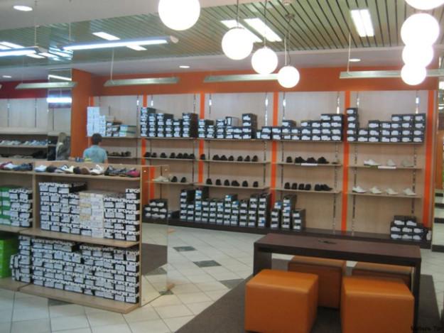 Стеллаж для обуви с оранжевыми вставками