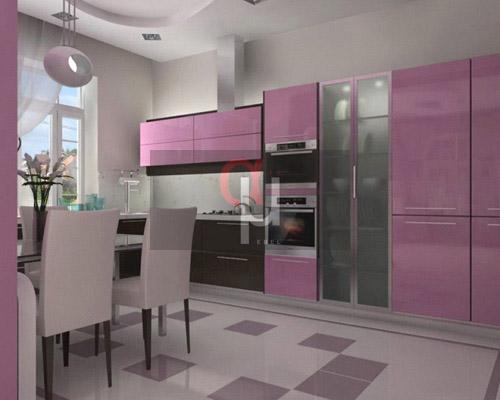 Стильная кухня с фасадами из крашенного МДФ