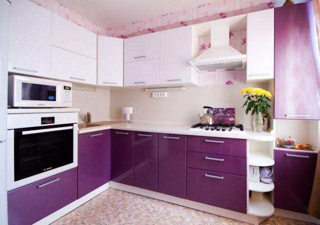 Стильная угловая кухня
