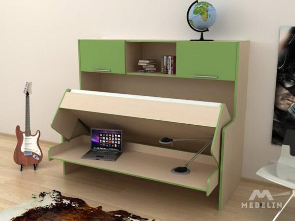 Стол-кровать зеленый