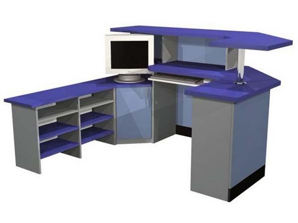 Стол компьютерный для персонала двухцветный