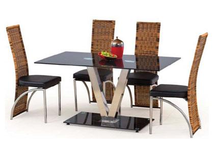 Стол кухонный на стеклянной опоре «Velvet»