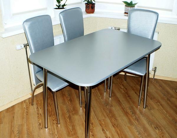Стол металлик с хромированной опорой