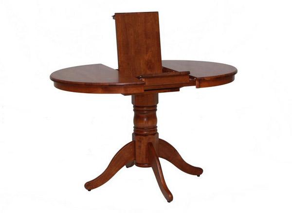 Стол обеденный цвета дуб с раскладывающейся столешницей