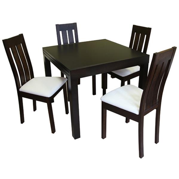Стол обеденный цвета темный орех