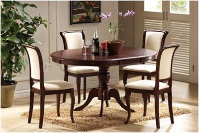 Стол обеденный полукруглый из массива «Olivia»