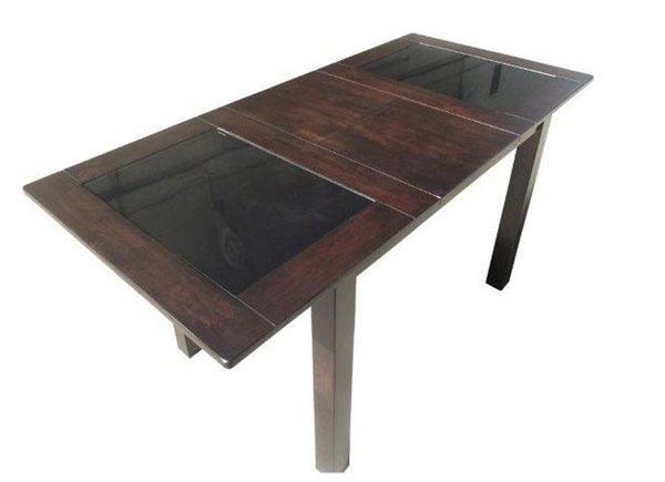 Стол обеденный со стеклянной черной столешницей
