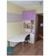 Стол офисный со встроенным шкафом