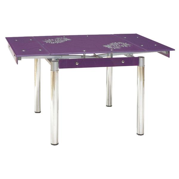 Стол стеклянный «GD-082» violet