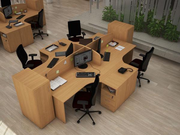 Столы офисные с тумбами