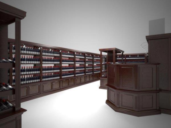 Торговое оборудование для винной