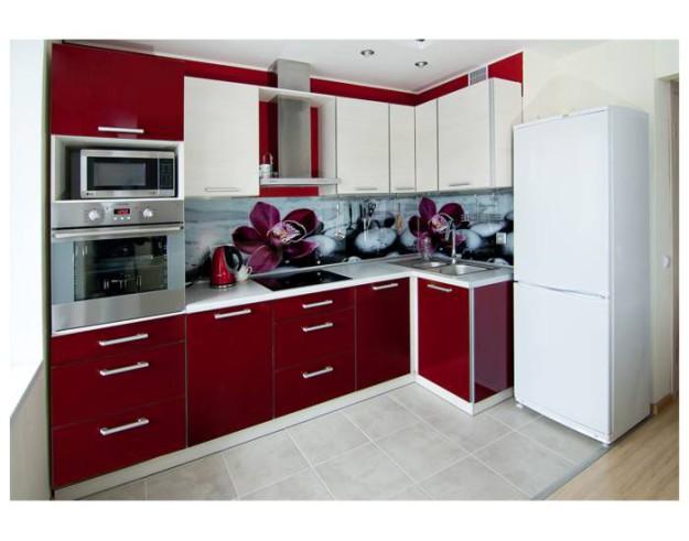 Фартук для кухни бордового цвета