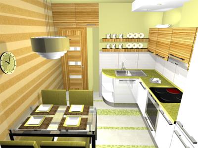 Угловая кухня с радиусным элементом