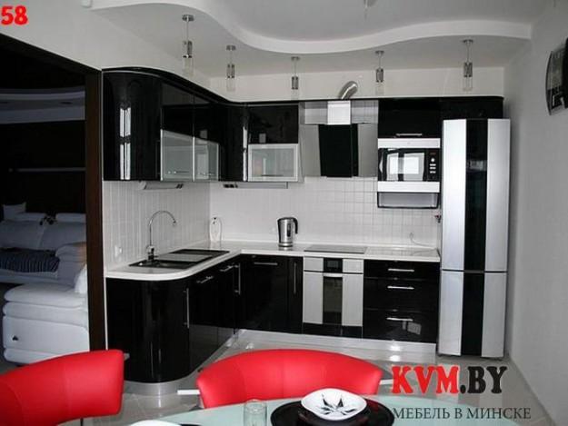 Угловая кухня средней величины