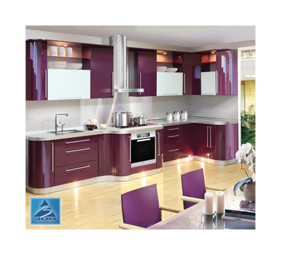 Угловая кухня вытянутая К-8