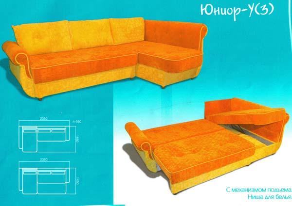 Угловой детский диван «Unior-3»