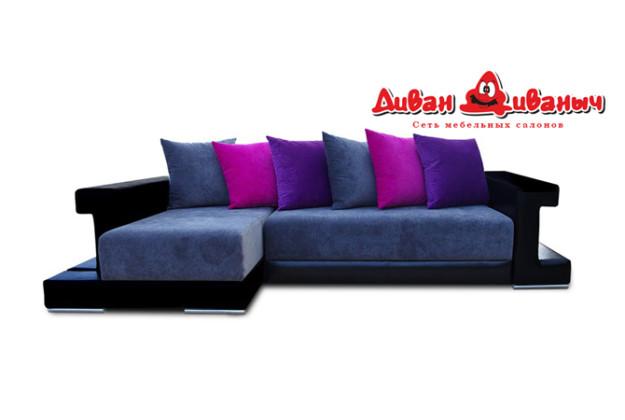 Угловой диван «Баккара 2/4» темный