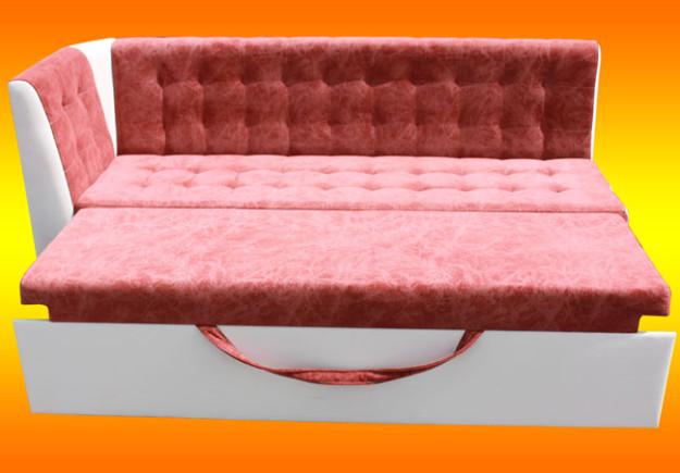 Угловой диван для кухни с боковой спинкой