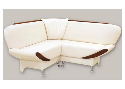 Угловой диван с деревянными накладками «Фрегат»