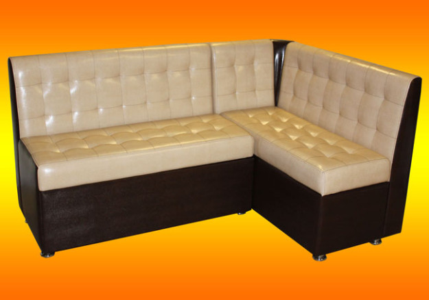 Угловой высокий диван для кухни «Мурано»