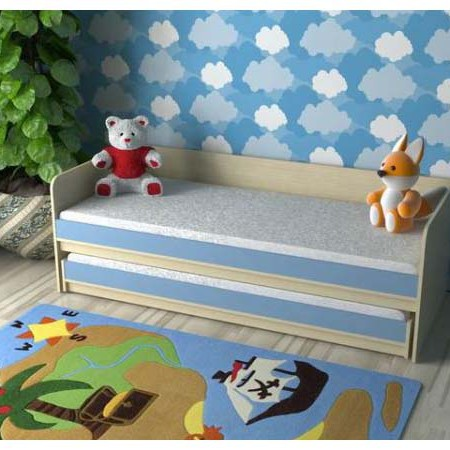 Выдвижная двуспальная кровать «Дуэт-7»