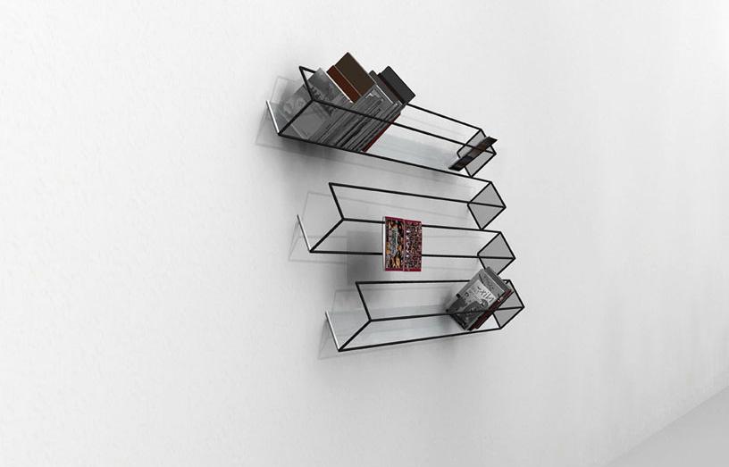 Навесные книжные полки